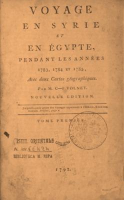 Voyage en Syrie et en Egypte : pendant les années 1783, 1784 et 1785, avec deux cartes géographiques. - Nouvelle édition