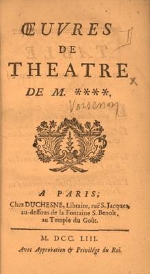 Oeuvre de theatre de M