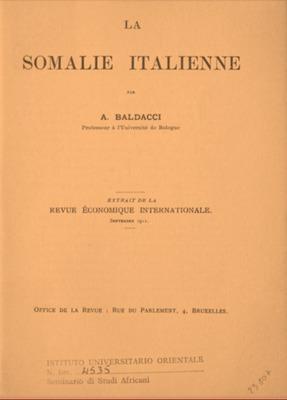 La Somalie italienne